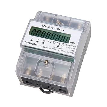 B+G E-Tech DRT428D - digitaler Stromzähler Drehstromzähler Wattmeter ...