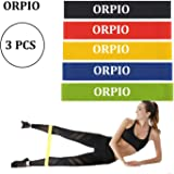 ORPIO (LABEL) Resistance Loop Bands, Gym Resistance Exercise Bands Yoga and Gym Workout Training Rubber Bands for Home Fitness, Crossfit, Stretching, Strength Training, Physical Therapy (3PCS)