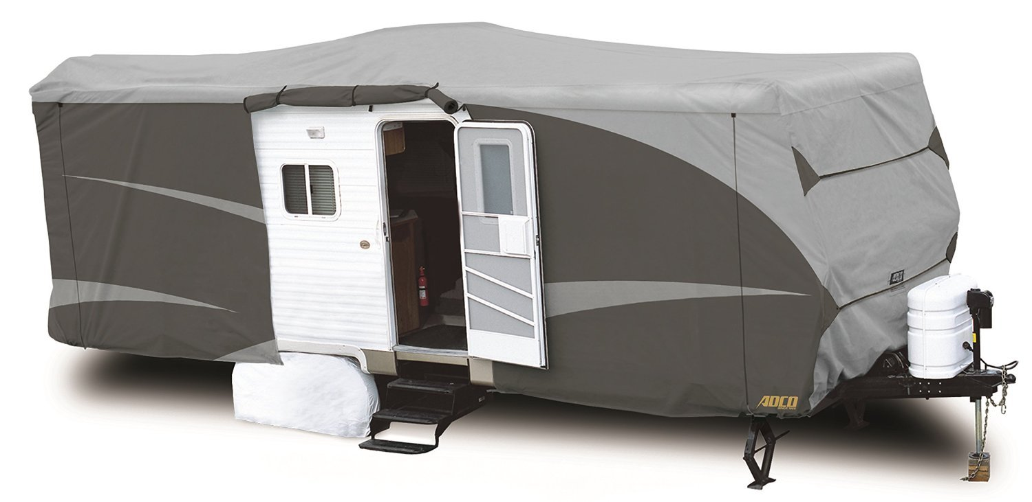 "ADCO 52245 Designer Series SFS Aqua Shed Travel Trailer RV Cover - 28'7"" - 31'6"", Gray"