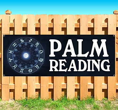 new store many sizes available PALM READING 13 oz heavy duty vinyl banner sign with metal grommets advertising flag,