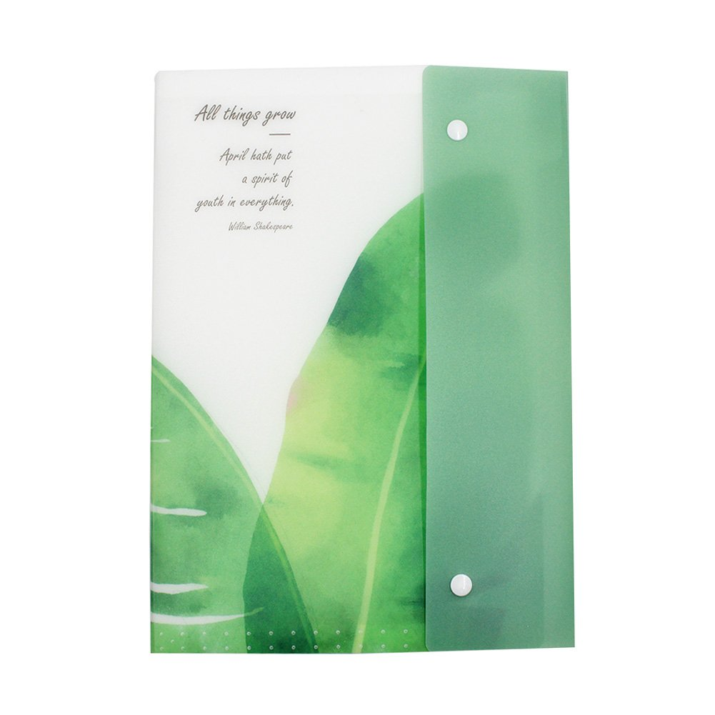 Eilova Plant Plastic A4 Expanding Accordion File Folder 8 Pockets Document Organizer Letter Size Storage Bag with Snap Closure for Receipts, Tickets