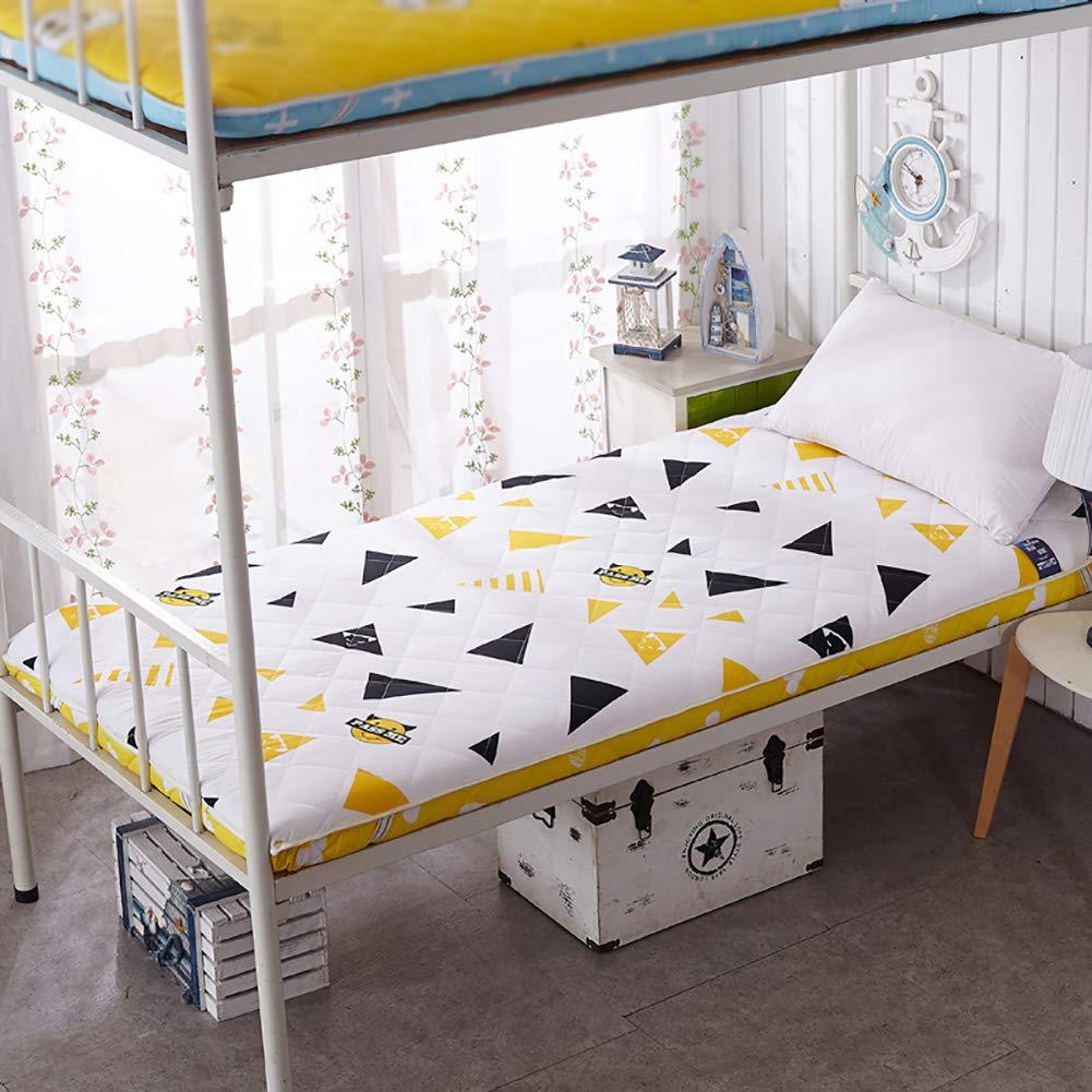 GJFLife Zusammenklappbar Schlafsaal Tatami Matratze Geldklammer, Atmungsaktive Boden Schlafen pad Futon ALLERGIKER-GEEIGNET Antibakteriell Bett-matten Pad-D 120x190x6cm