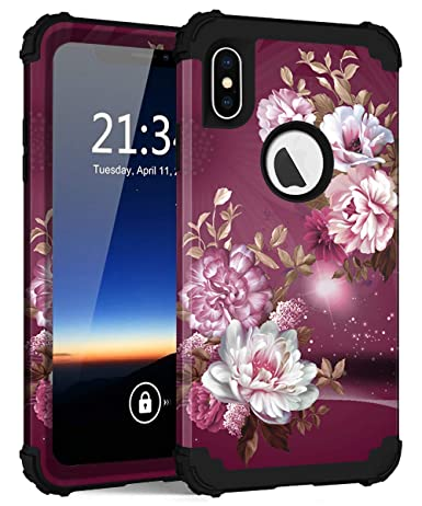Amazon.com: Funda para iPhone Xs Max, Hocase a prueba de ...