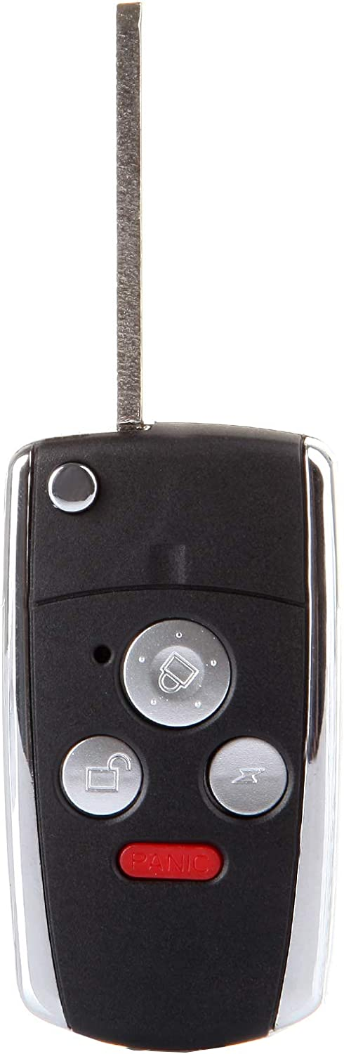 SELEAD Flip Key Fob 4 Buttons Keyless Entry Remote Shell CASE fit for 2003-2010 Honda Accord Pilot CR-V Civic Ridgeline Fit Antitheft Keyless Entry Systems ADP05703201S 2pcs US Stock
