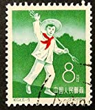 Happy young boy China 1959 -Handmade Framed Postage Stamp Art 14688