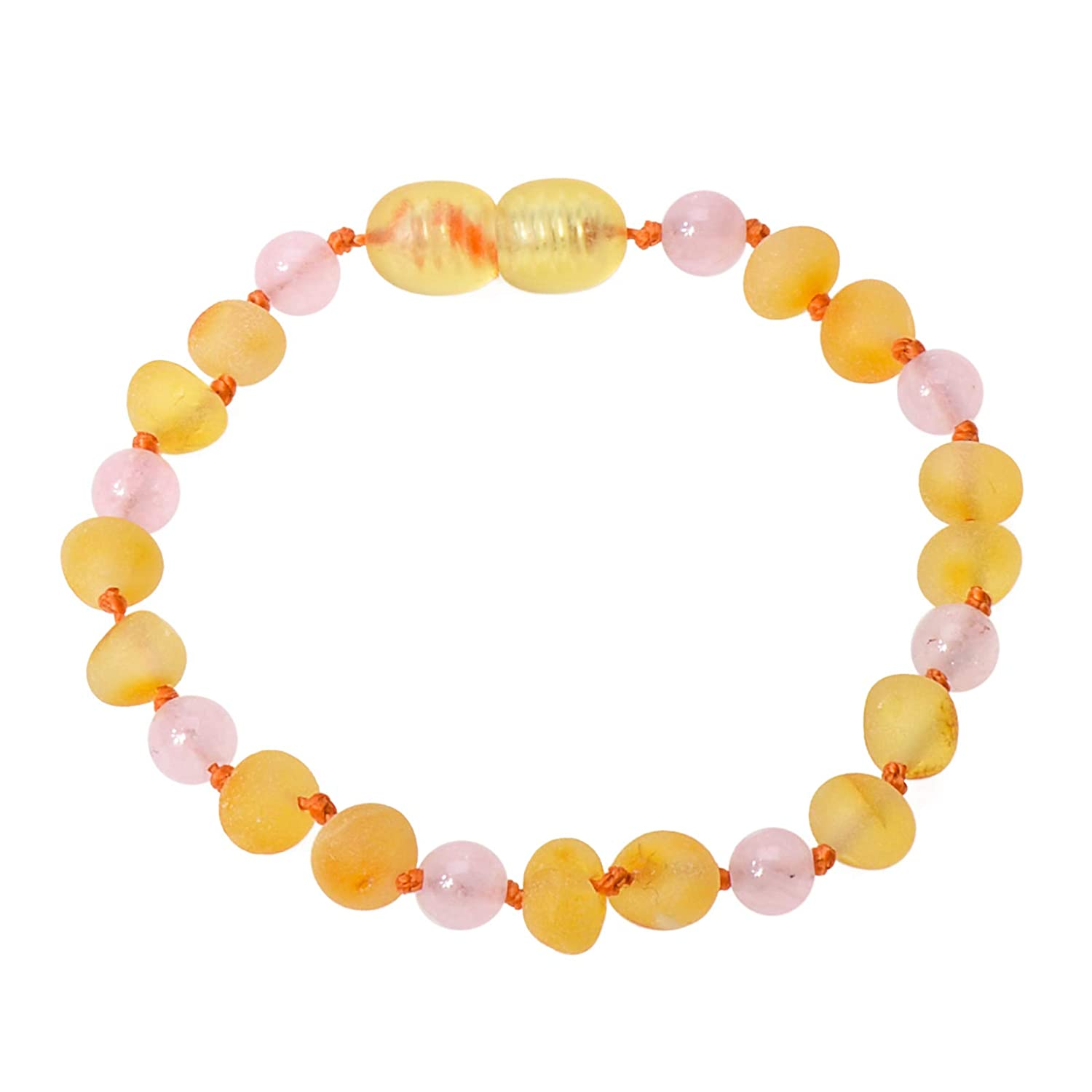 Dark Cognac, 4.7 inches with Plastic Screw Clasp Knotted Between Beads Vintage Amber Genuine Amber Raw Not Polished 100/% Natural Baltic Amber Beads Baby Unisex Teething Anklet//Bracelet
