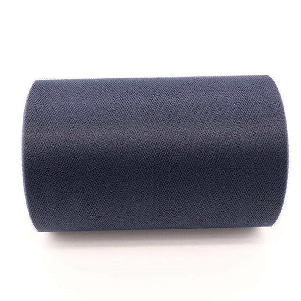 Wicemoon Rollo de tela de tul 15CM x 91M tutu tul para costura banquetes decoraci/ón de regalo regalo de organza Azul oscuro