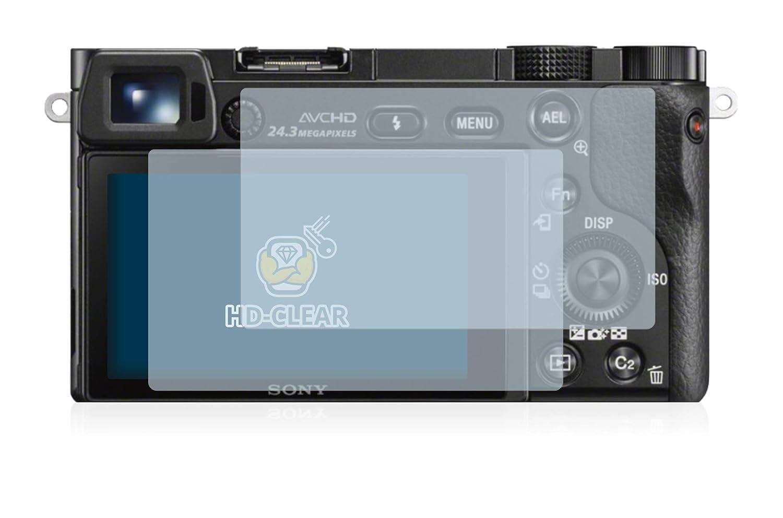 2x BROTECT Displayschutzfolie Klar Sony Alpha 6300 Schutzfolie Folie