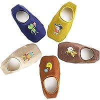 Ceguimos - Pack de 5 Pares Calcetines Invisibles para Bebé Niños - Antideslizante, Set 2, 1-3 Años