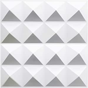 TroyStudio Acoustic Sound Diffuser Panel - Multiple Colors, 12'' X 12'' X 1'' (16 Pack/Pyramid)
