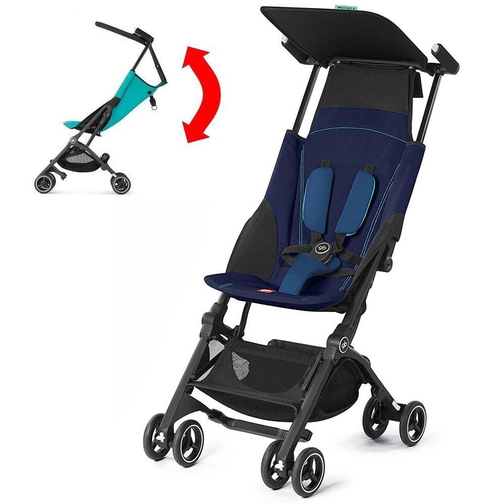 GB Pockit PLUS Stroller 2017 / multi-adjustable backrest / Light Traveler / from 6 Mo.-4Y. Sea Port, navy blau