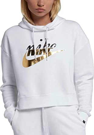 03873f88e3c3 Amazon.com  Nike Women s Metallic Rally Hoodie  Clothing