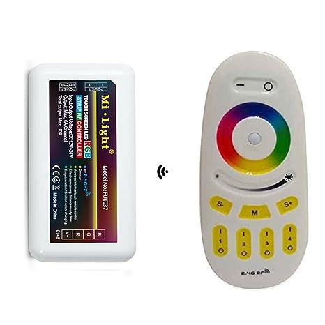 hot sale online b6f9e da590 2.4G RF RGB Controller Kit, Visdoll 4-Zone RGB Remote + 4-Zone RGB  Controller, Mi-Light 2.4G RF Touch Screen Controller DC 12V/24V For  Flexible RGB ...