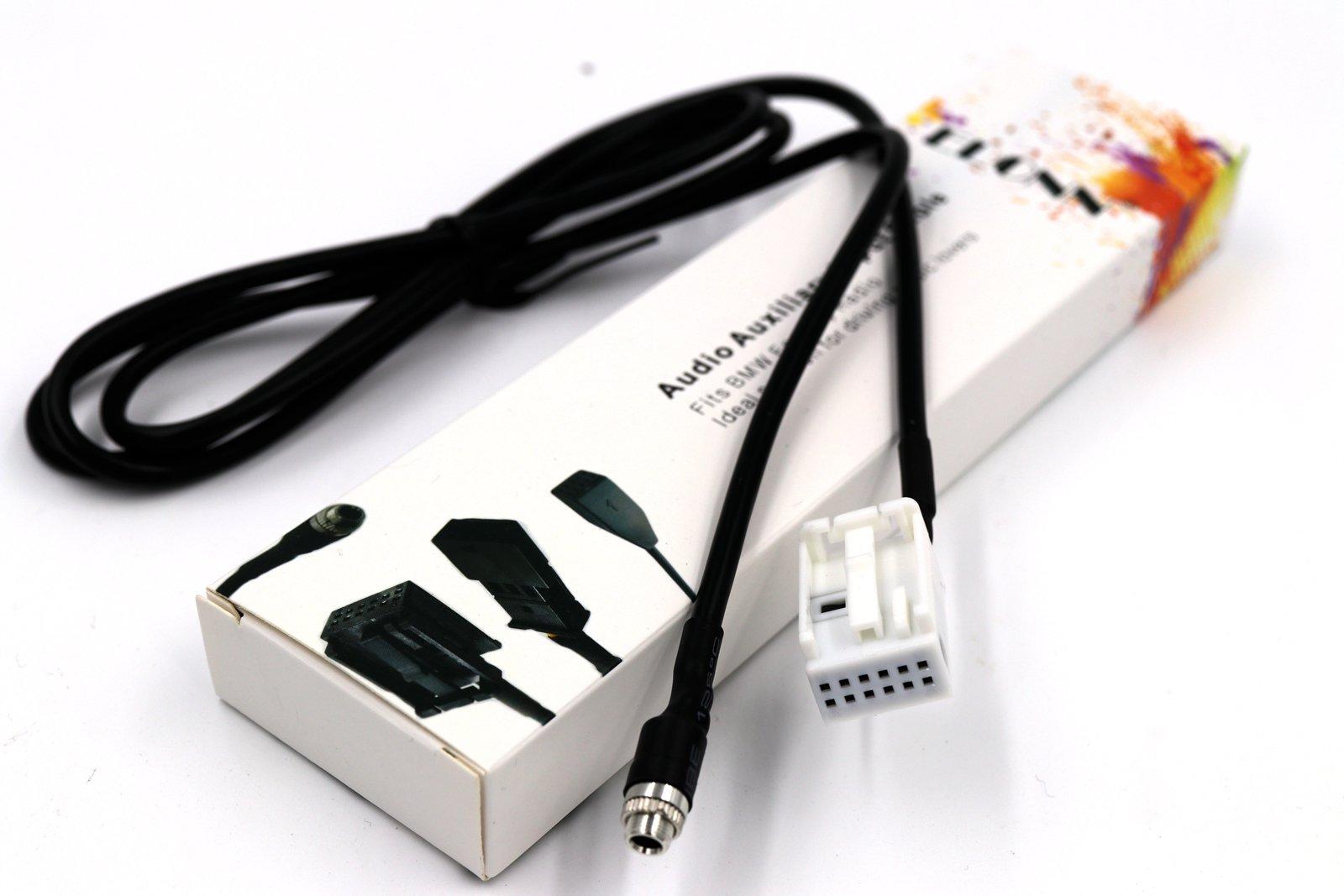 ELONN BMW Audio Auxiliary Input Cable for BMW E60 E61 E63 E64,CD-like Sound Quality