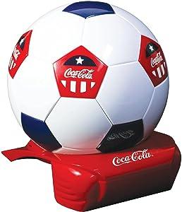 Coca-Cola Soccer Ball 5 Can Cooler, 12V DC/110V AC Cooler, for home, dorm, office, travel, camping, car, boat, truck, beverages, snacks, skincare, cosmetics, medication