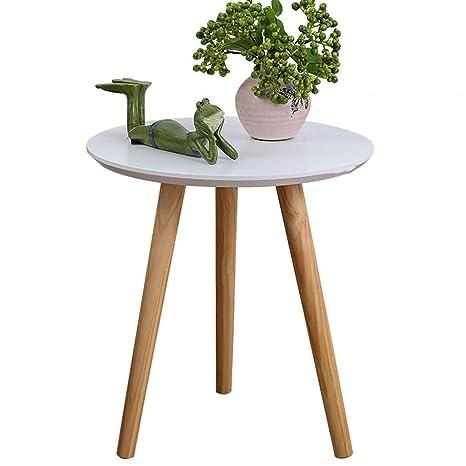 Amazon.com: Pequeña mesa redonda pequeña elegante mesa de ...