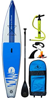 Stand on Liquid Chelan Air Inflatable 12 Foot 6 Inch Touring Stand Up Paddle Board iSUP