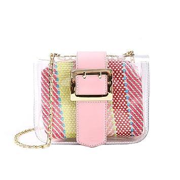 Damen Schultertasche Handtasche Clutch Transparent Tasche bag Schulter Bag Klar