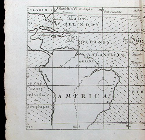 Halley World Trade Winds 1709 Moll first meteorological map Australia Formosa