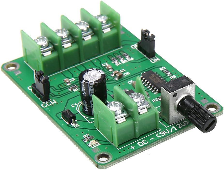SODIAL 5V-12V Controlador DC Brushless Motor Driver Board Para Motor De Disco Duro De 3/4 Cables