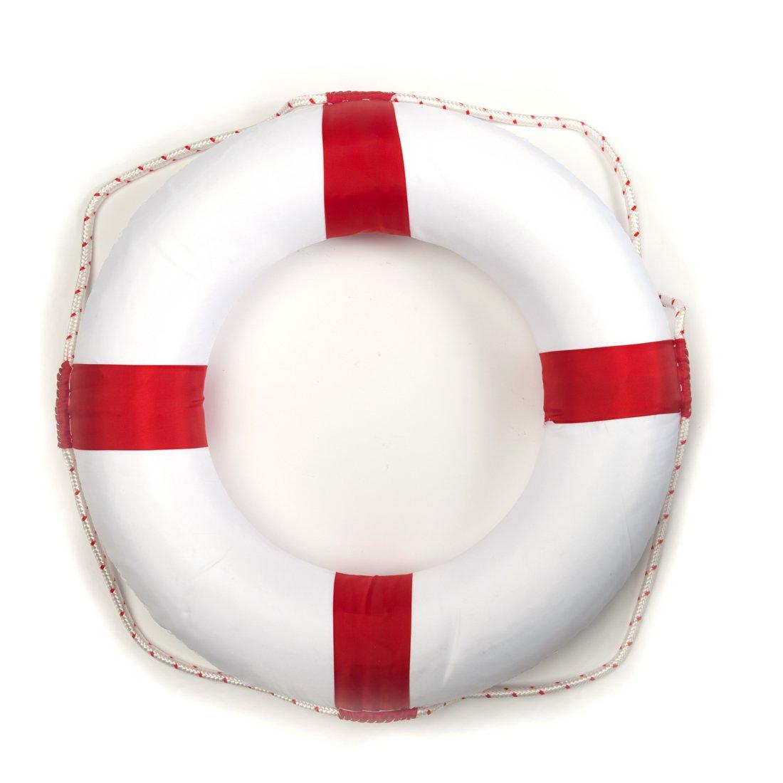 motawator 50cm Diameter Swim Foam Ring Buoy Swimming Pool Safety Life Preserver W/Nylon Cover Kid Child Adult by motawator