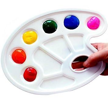 Amazon Com 2pcs Paint Tray Palette Plastic Artist Paint