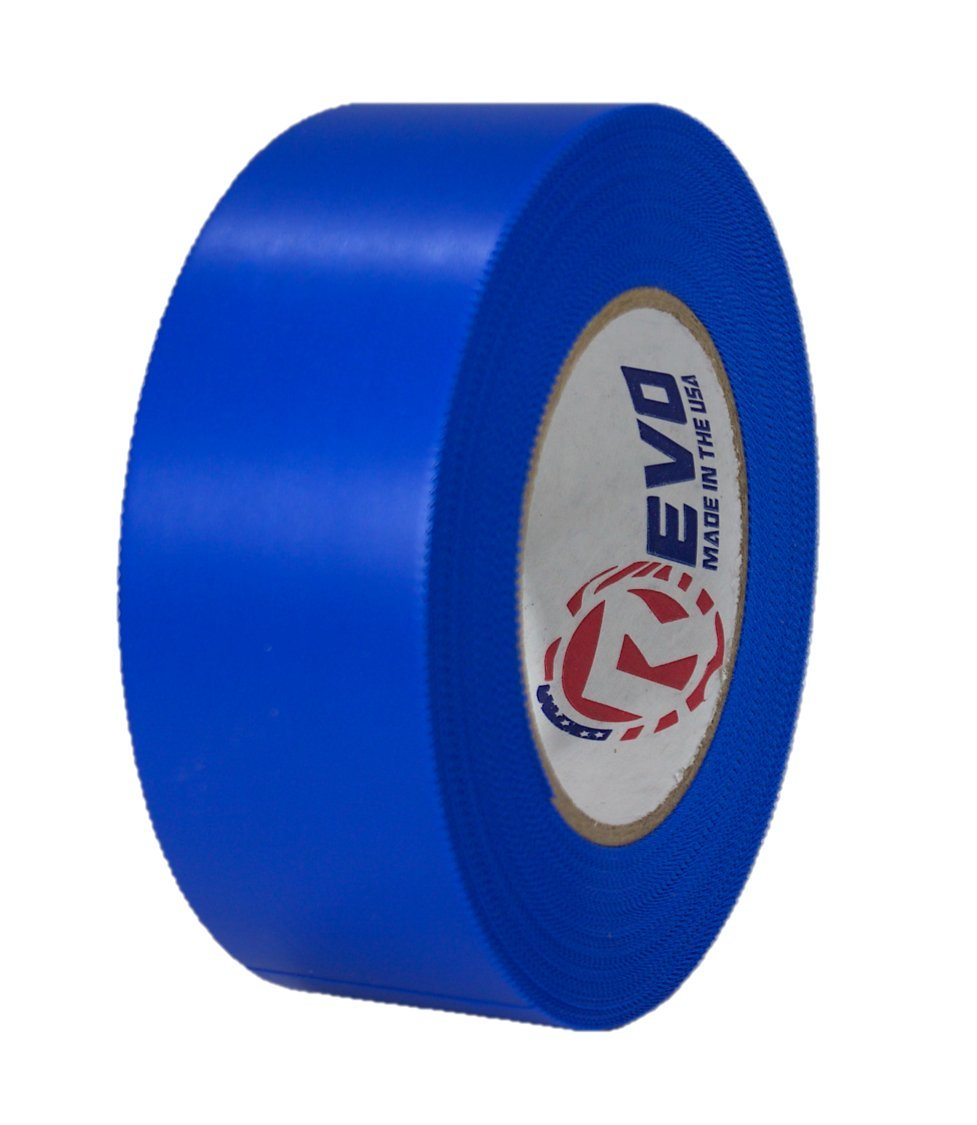 REVO Preservation Tape / Heat Shrink Wrap Tape (2'' x 60 yards) MADE IN USA (BLUE) Poly Tape - Electrical Tape - Scaffold Wrap Tape (PINKED EDGE) SINGLE ROLL (LIGHT DUTY: 7.5 MIL THICKNESS)