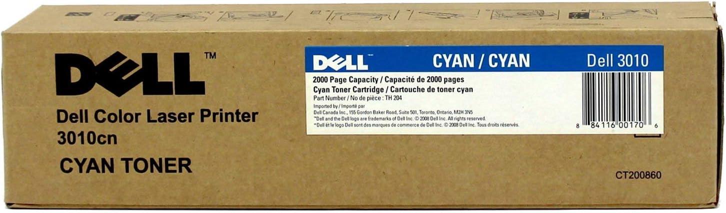 Dell TH204 OEM Toner - 3010CN Cyan Toner (OEM# 341-3571) (2000 Yield) OEM by Dell