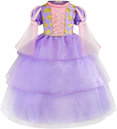 Kids Girls Dress Up Princess Costume Fairytale Party Fancy Xmas Christmas Shirt