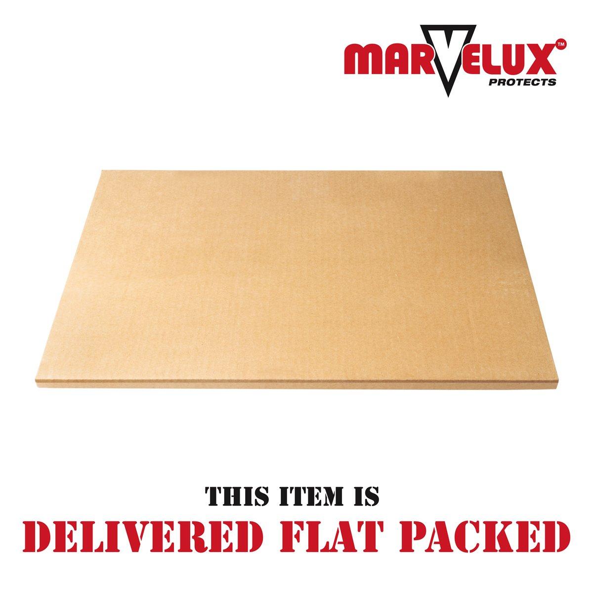 Lipped Chair Mat for Hard Floors Multiple Sizes Marvelux 36 x 48 ECO Transparent Hardwood Floor Protector Enhanced Polymer