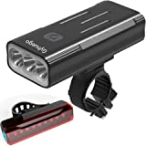 Gyhuego Bike Light USB Rechargeable, 4000 Lumen Bicycle Lights Front and Back, Bright Led Bike Headlight and Taillight with P
