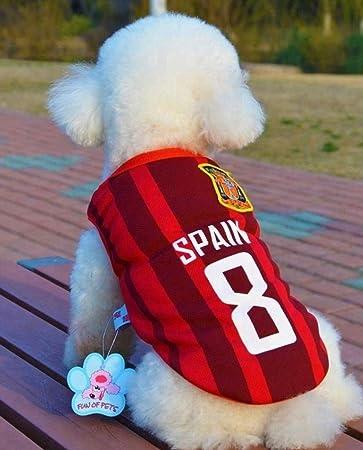 Amazon.com: Trend68 - Camiseta de fútbol para perro, diseño ...
