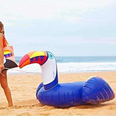 HGHFH - Colchón Hinchable de 200 cm, diseño de pájaro Azul, para Piscina Gigante para Adultos y Juguetes acuáticos de Verano: Amazon.es: Deportes y aire libre
