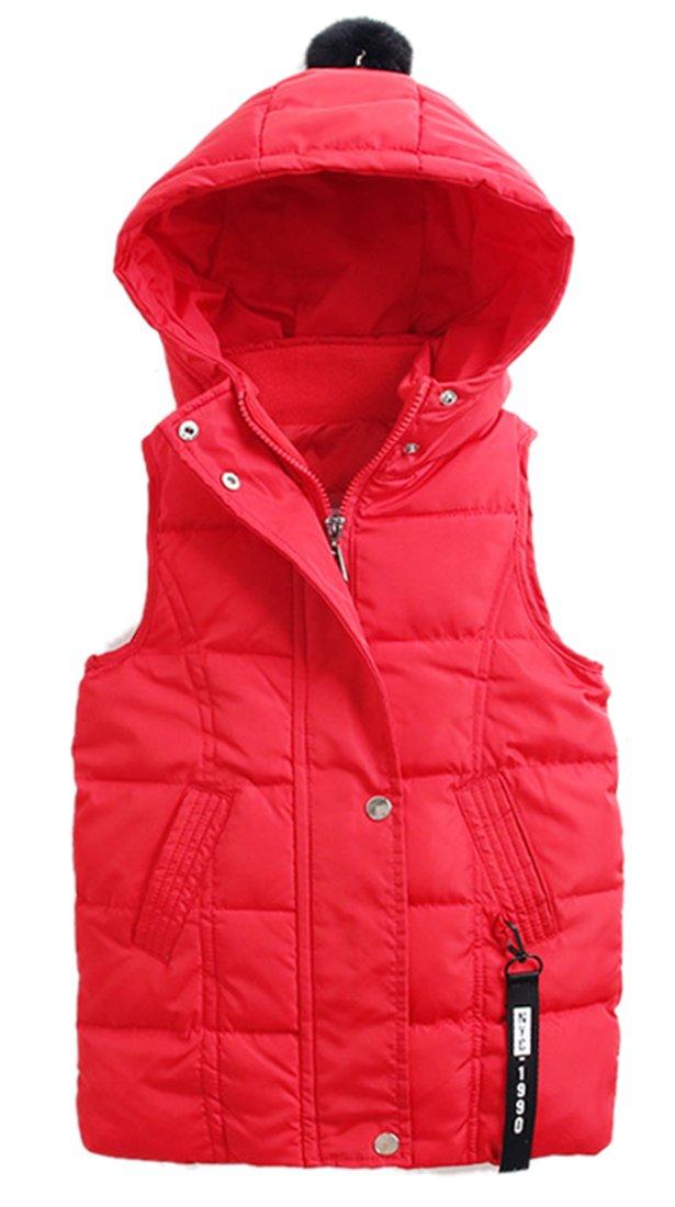 Roffatide Children's Down Jacket Vest Puffer Coat Sleeveless Hoodie Girls Boys
