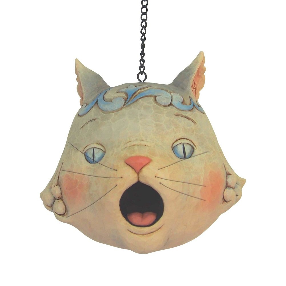 Enesco Jim Shore Heartwood Creek 6001602 Cat Head Birdhouse