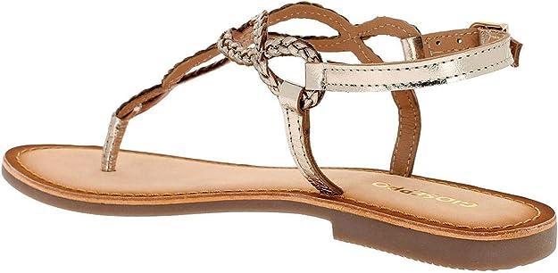 GIOSEPPO Dylana mujer 39222 de cuero marrón sandalias de