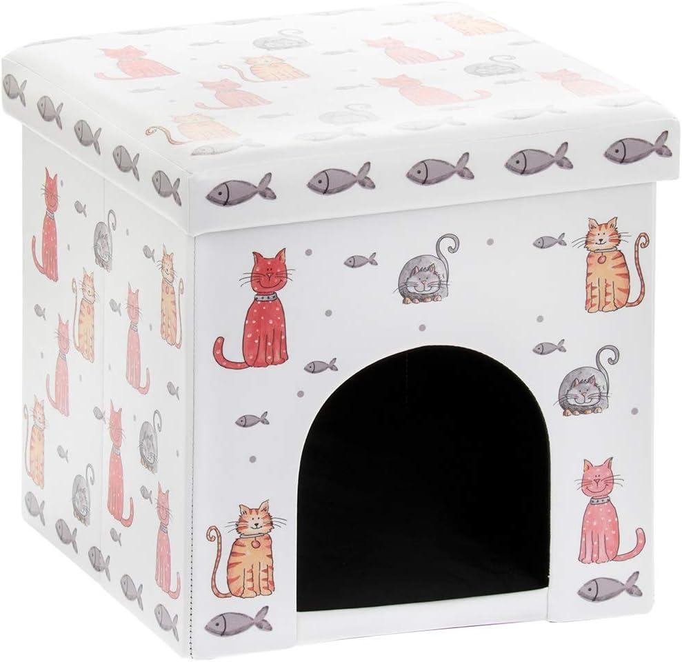 Faithful Friends Cat Design Pet Bed Box