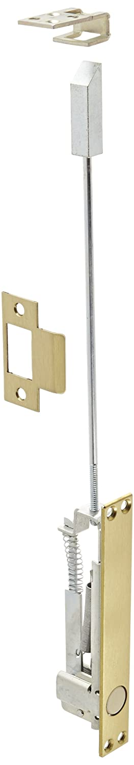 1 Width x 6-3//4 Height Self-Latching Top Bolt Only Rockwood 2805.4 Combination Flush Bolt Brass Satin Clear Coated Finish 1 Width x 6-3//4 Height Rockwood Manufacturing Company