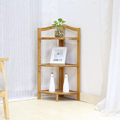 LRW Corner Rack Floor Corner Rack Corner Shelf Bamboo Art Flower Rack Home Corner Rack: Garden & Outdoor