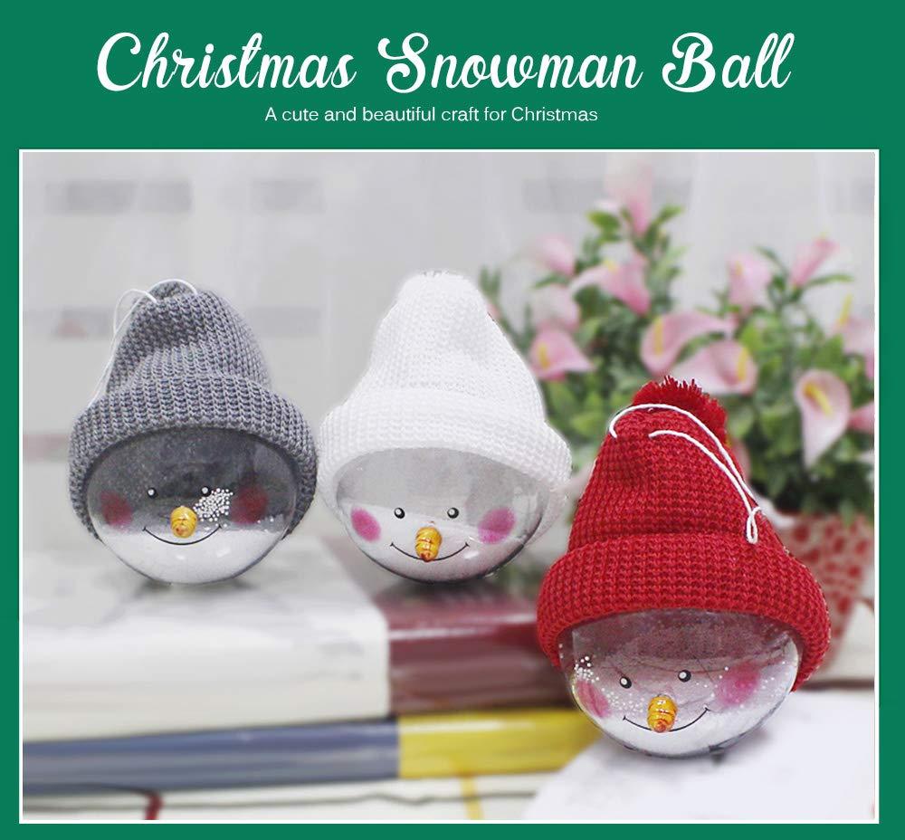 TrifyCore Bola de muñeco de Nieve Colgante Ornamento Árbol de ...