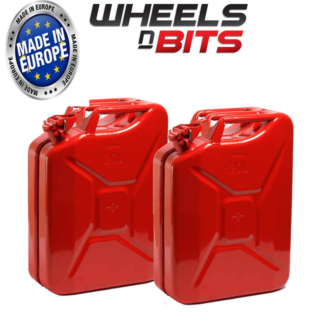 NEW 20 LITRE RED JERRY MILITARY CAN FUEL OIL WATER PETROL DIESEL STORAGE TANK Wheels N Bits