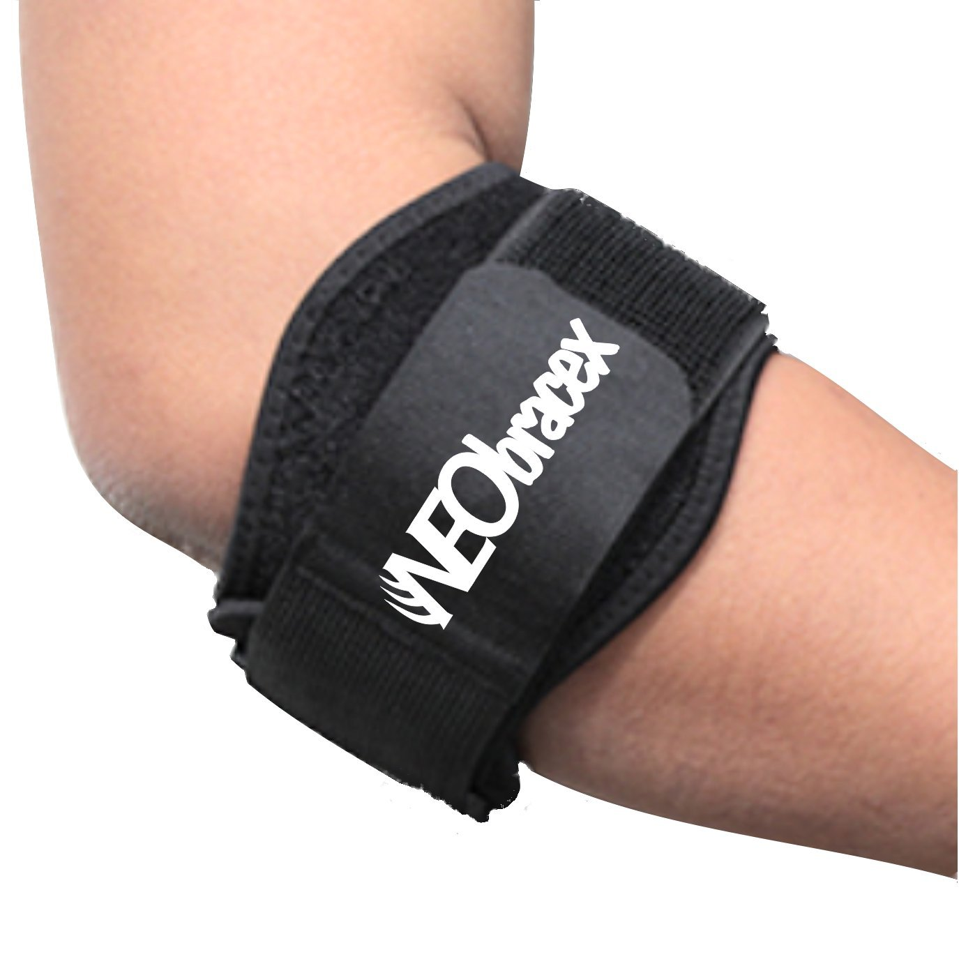 NEObracex Tennis Elbow Brace Forearm & Elbow Pain Relief for Golfers, Tennis, Baseball, Lateral Epicondylitis, Tendonitis, Ulnar Nerve Compression, Adjustable Support Band