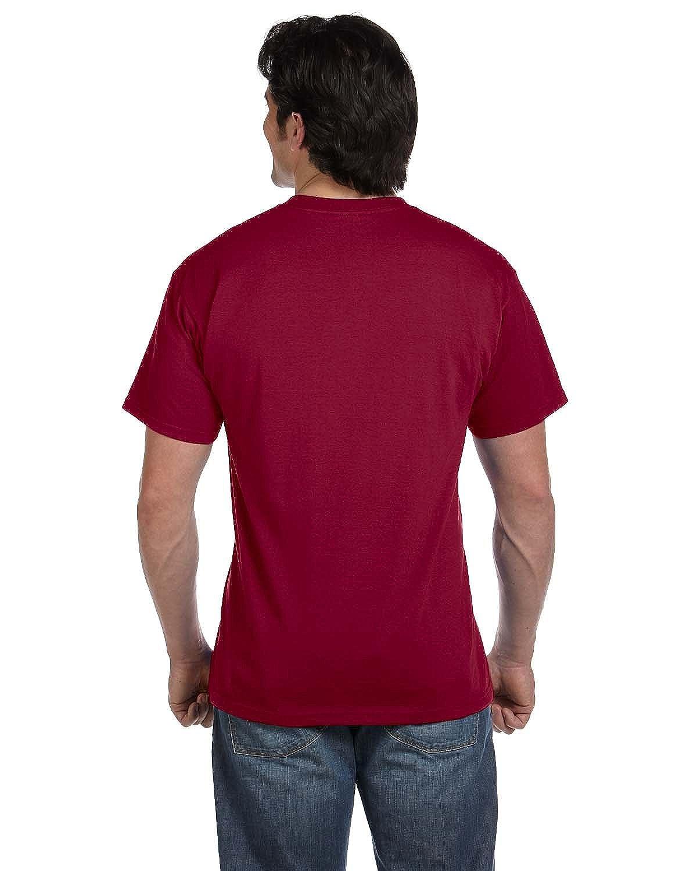 72cfbb66 Fruit of the Loom Mens 5.6 oz, 50/50 Best Pocket T-Shirt (5930P) -Maroon -S  | Amazon.com