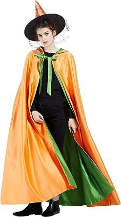 BEAUTELICATE Capa Medieval con Capucha Mujer Disfraz De Halloween ...