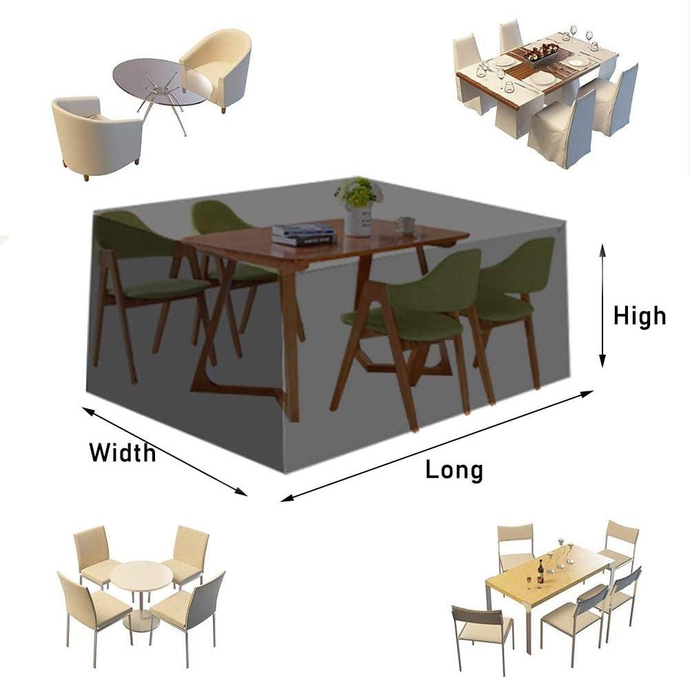 AWSAD Claro Jardín Funda Muebles Protector Impermeable Lona Alquitranada Vaso Mesa de Café Cubre a Prueba Polvo Funda Muebles, Personalizable (Color : Clear, Size : 240x140x90cm): Amazon.es: Hogar