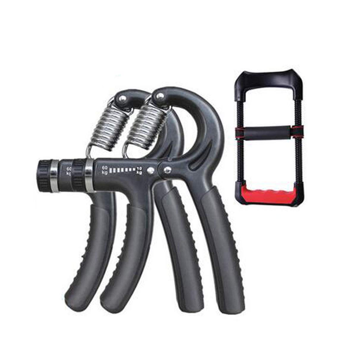 Jiansheng Hand Grip, Professional Training Hand Man's Training Arm Muscle Rehabilitation Training Finger Strength Wrist Strength Fitness Device, Red Color (3 Piece Suit) (Color : Black)