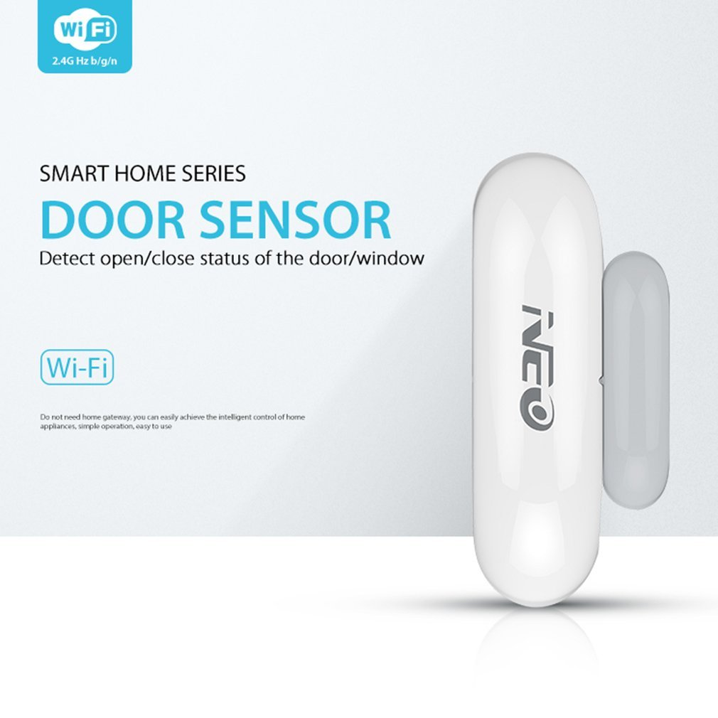 FairytaleMM NAS-DS01W WiFi Elegante Sensor de Ventana de la Puerta Plug & Play Control Remoto de la casa (Color: Blanco)