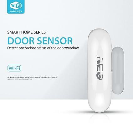 FairytaleMM NAS-DS01W WiFi Elegante Sensor de Ventana de la Puerta Plug & Play Control