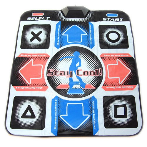 (OSTENT USB RCA Non-Slip Dancing Step Dance Mat Pad Compatible for PC TV AV Video Game)