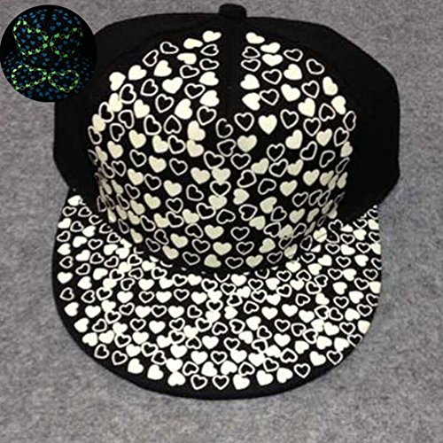 Lumiparty Hip Hop Hat Baseball Cap Glow In The Dark Night Green Light - Light Radioactive